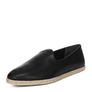 Vince Women's Malia Leather Black Loafers